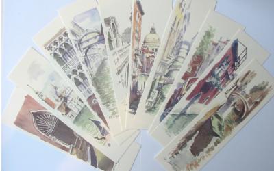 Venice Watercolor Bookmarks